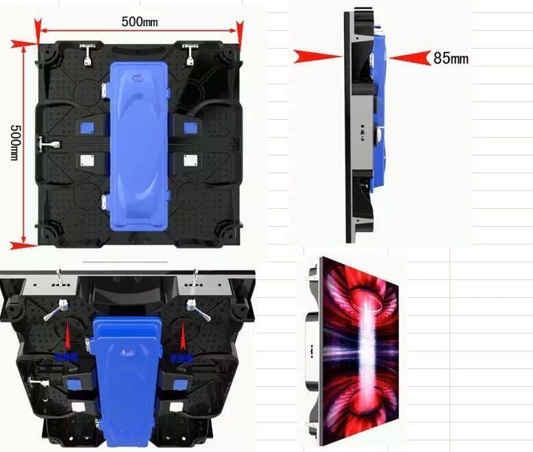 Indoor p4.81 500mmx500mm Rental LED display